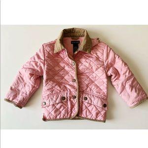 e9475b262 Ralph Lauren · Ralph Lauren Girls 12-18m Pink Quilted Barn Jacket